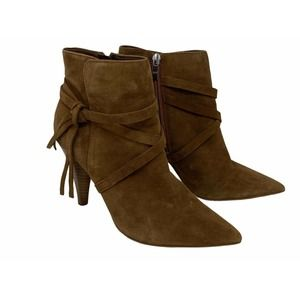 Marc Fisher Boots Ankle Booties Heeled Suede